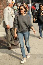 AUBREY PLAZA Arrives at Ed Sullivan Theater in New York 06/21/2016