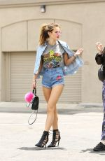 BELLA THORNE in Denim Shorts Out in Los Angeles 06/15/2016