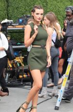 BELLA THORNE on the Set of Extra in Los Angeles 06/07/2016