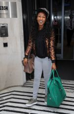 BEVERLEY KNIGHT Leaves BBC Radio 2 Studios in London 06/10/2016
