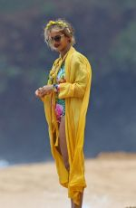 BEYONCE KNOWLES in Swimsuit on the Beach in Hawaii, June 2016