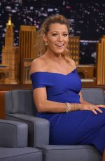 BLAKE LIVELY on the Set of Tonight Show Starring Jimmy Fallon in New York 06/20/2016