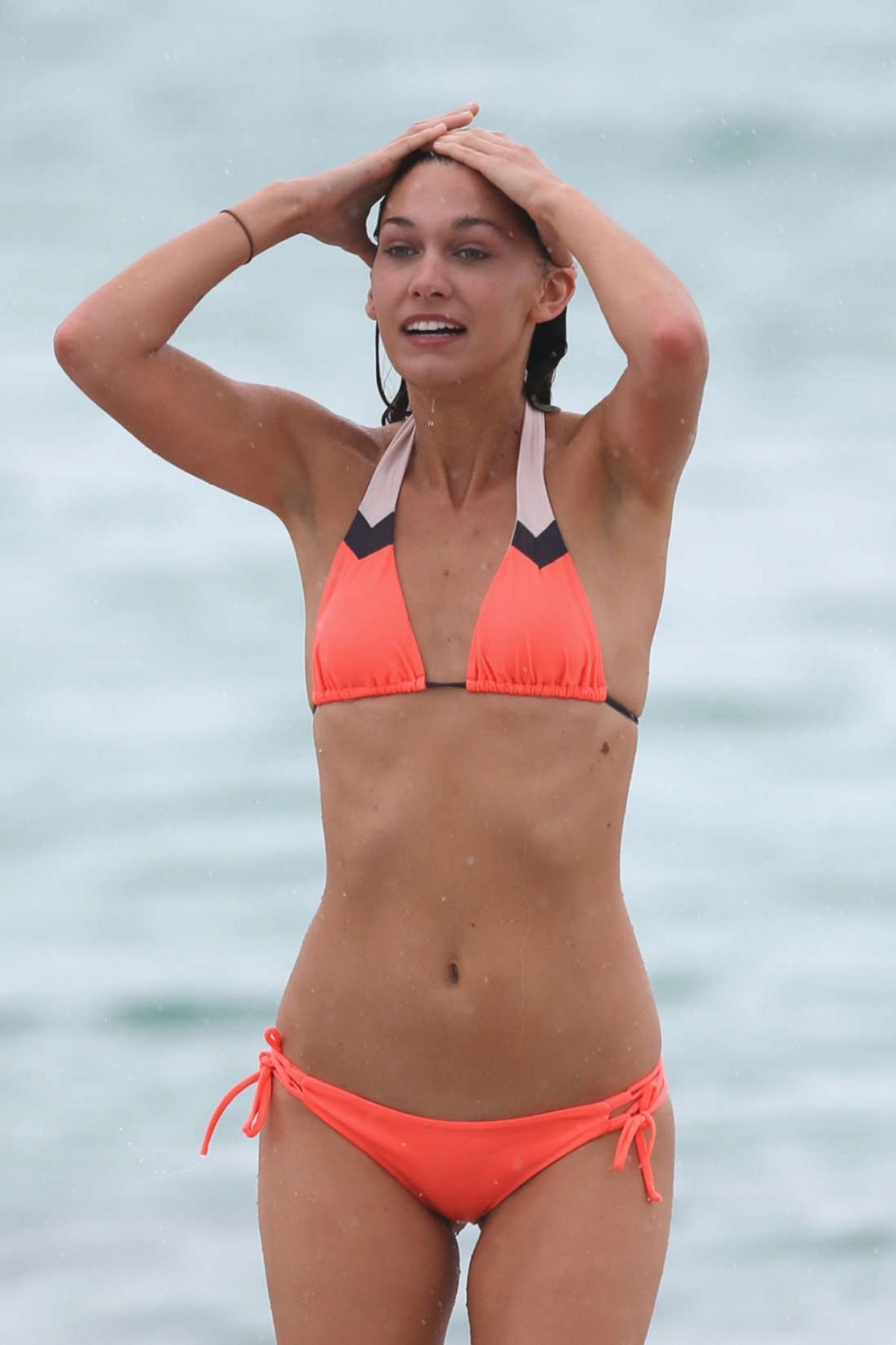 BRITTANY GONZALES in Bikini on the BEach in Miami 06/13/2016