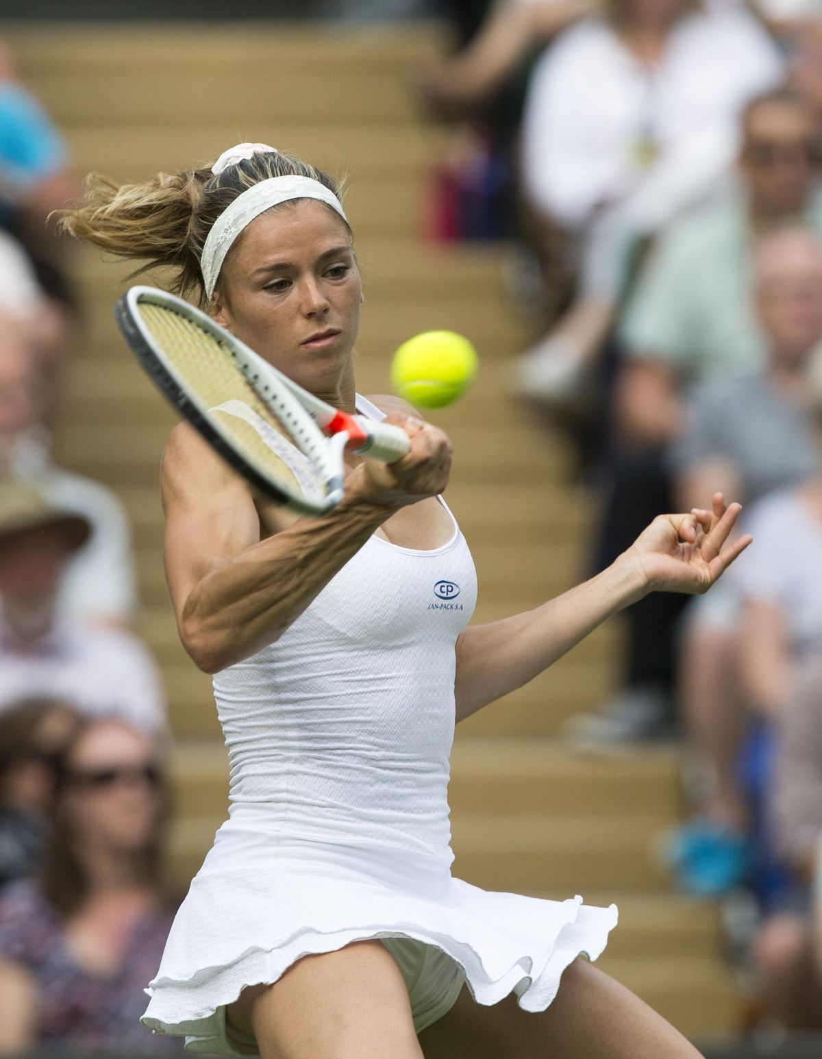 CAMILA GIORGI at 1st Round at Wimbledon Tennis Championships in London 06/27/2016