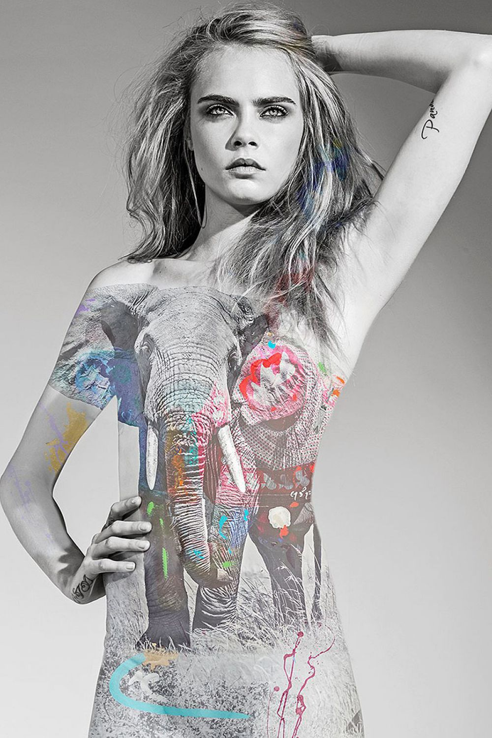 CARA DELEVINGNE for 'I Am Not A Trophy Campaign' - HawtCelebs
