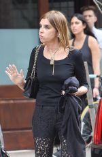 CARINE ROITFELD Leaves Her Hotel in New York 06/11/2016