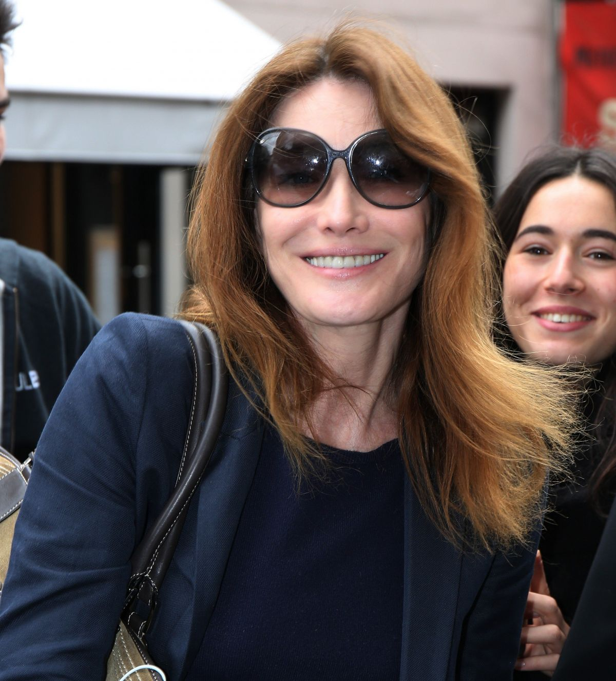CARLA BRUNI at RTL Radio Studios in Paris 06/21/2016