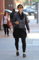 CARRIE-ANNE MOSS Out Shopping in Beverly Hills 06/06/2016