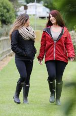 CASEY BATCHELOR and JESSICA HAYES on the Set of
