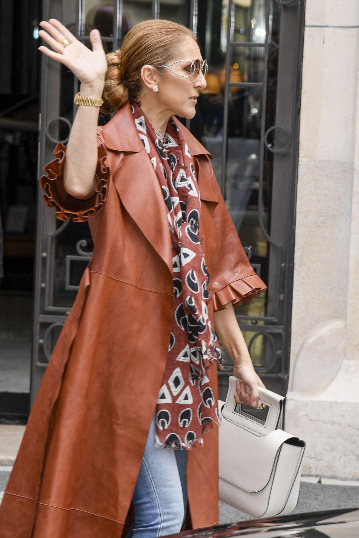 Celine Dion Leaves Her Hotel In Paris 06  19  2019