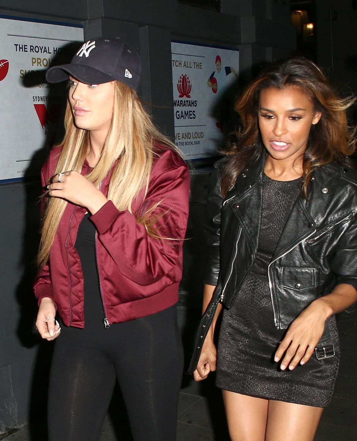 CHARLOTTE CROSBY and MELODY THORNTON Night Out in Sydney 06/17/2016