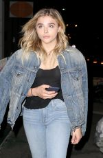 CHLOE MORETZ in Jeans Night Out in New York 06/21/2016