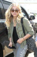 CHLOE MORETZ in Leggings at LAX Airport 06/21/016