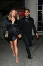 CHRISSY TEIGEN Night Out in Hollywood 06/27/2016