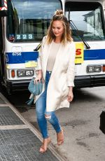 CHRISSY TEIGEN Out amd About in New York 06/07/2016