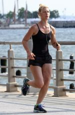 CLAIRE DANES Out Jogging in New York 06/11/2016