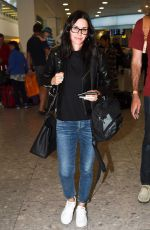 COURTENEY COX at Heathrow Airport in London 06/24/2016
