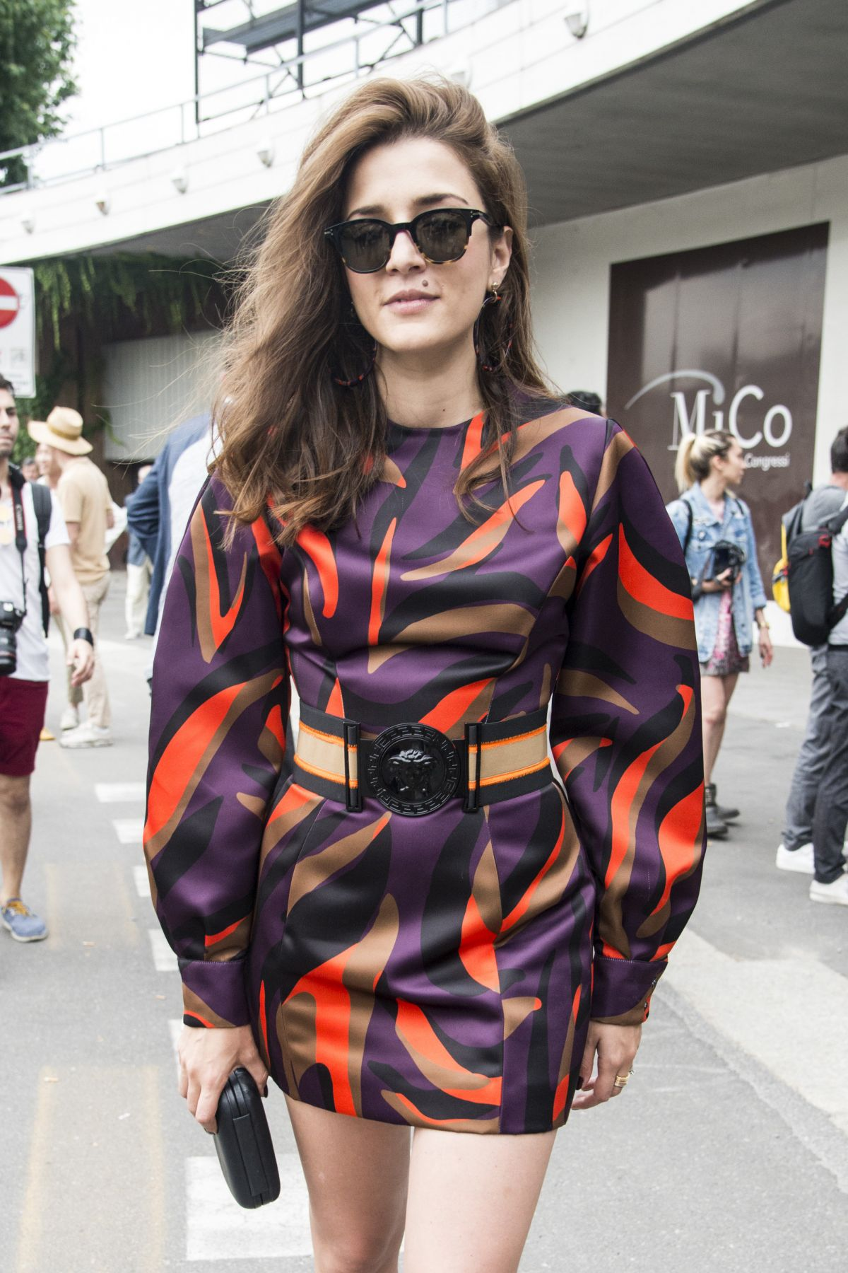 ELEONORA CARISI at Versace Fashion Show in Milan 06/18/2016