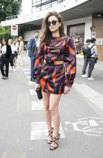 ELEONORA CARISI at Versace Fashion Show in Milan 06/18/2016