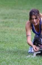 ELISABETTA CANALIS on the Set of a Commercial in Park in Milan 06/29/2016