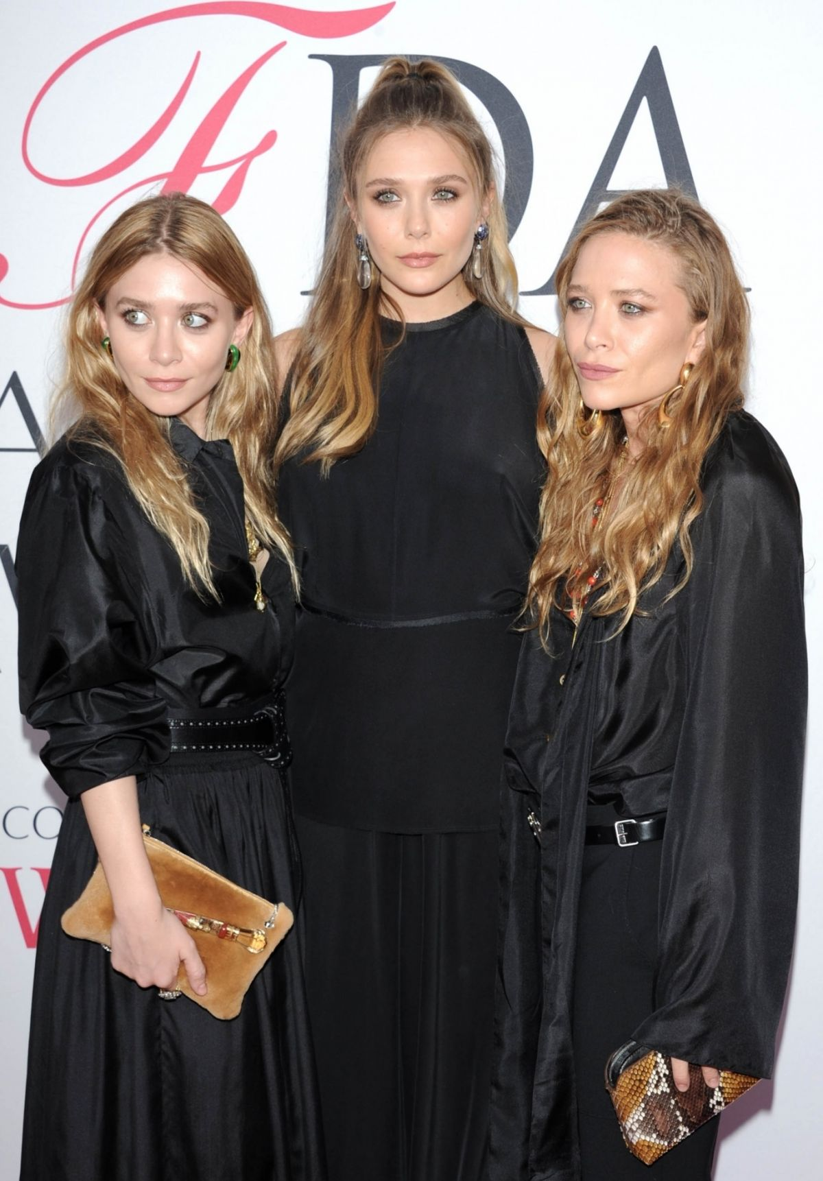 ELIZABETH, MARY-KATE and ASHLEY OLSEN at CFDA Fashion Awards in New York 06/06/2016