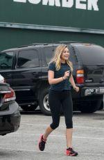 ELIZABETH OLSEN Arrives at a Gym in West Hollywood 06/24/2016
