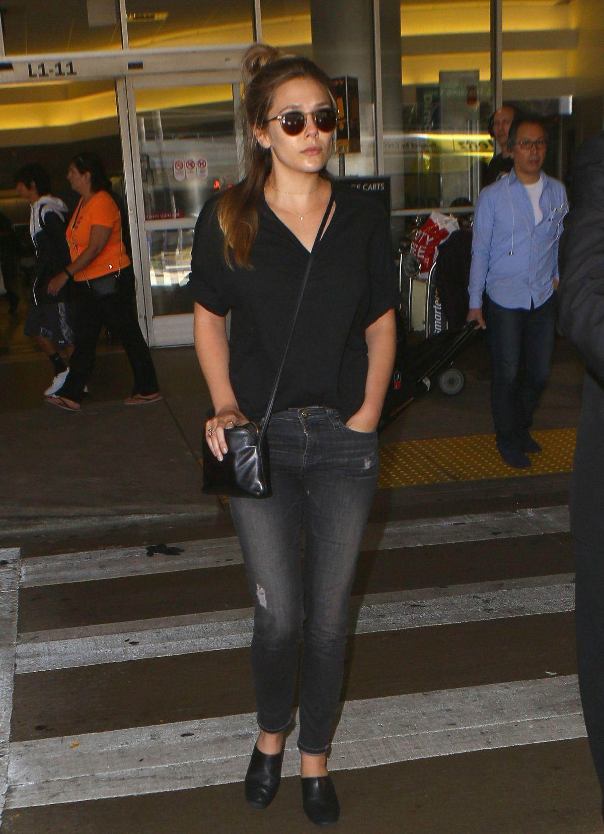 ELIZABETH OLSEN at Los Angeles International Airport 06/07/2016