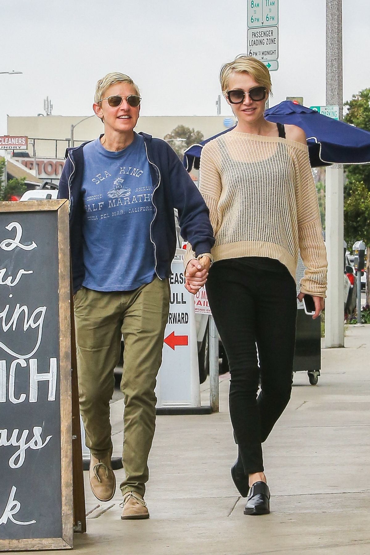 ELLEN DEGENERES and PORTIA DE ROSSI Out in West Hollywood 06/11/2016