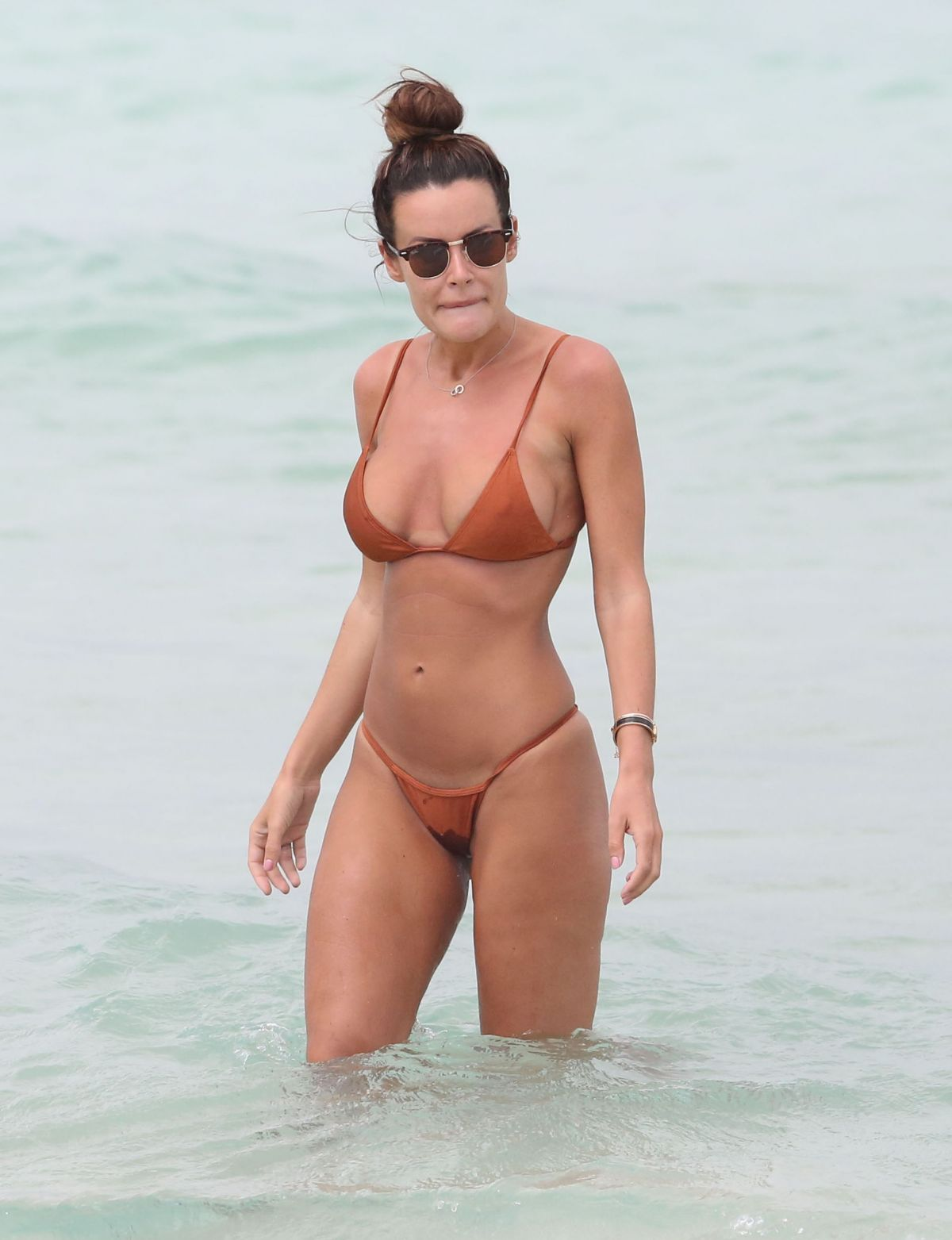 EMMA ROSE in Bikini on the Beach in Miami 06/16/2016