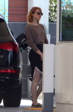 EMMA STONE at a Gas Station in Malibu 06/20/2016