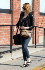 EMMA STONE Out and About in Beverly Hills 06/18/2016