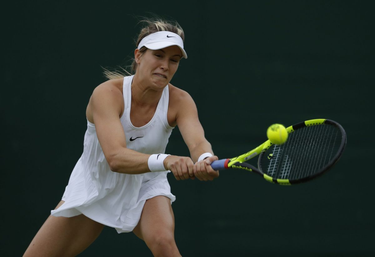 EUGENIE BOUCHARD at 1st Round at Wimbledon Tennis Championships in London 06/27/2016