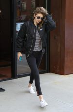 GIGI HADID Leaves Her Apartment in New York 06/08/2016
