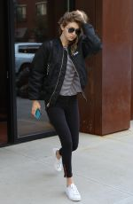 GIGI HADID Leaves Her Apartment in New York 06/09/2016