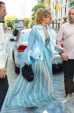 GIGI HADID Leaves Her Apartment in New York 06/18/2016
