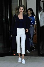 GIGI HADID Out for Dinner at Nobu in New York 06/09/2016