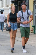 HAILEY CLAUSON in Denim Shorts Out in New York 06/16/2016