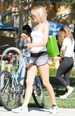 HAYLEY ROBERTS Riding a Bike Out in Calabasas 06/16/2016