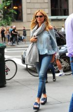 HEIDI KLUM Out and About in New York 06/16/2016