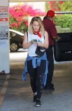HILARY DUFF at a Gym in West Hollywood 06/10/2016