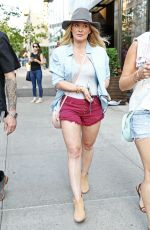 HILARY DUFF in Shorts Out in New York 06/06/2016
