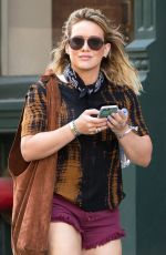 HILARY DUFF in Shorts Out in New York 06/22/2016