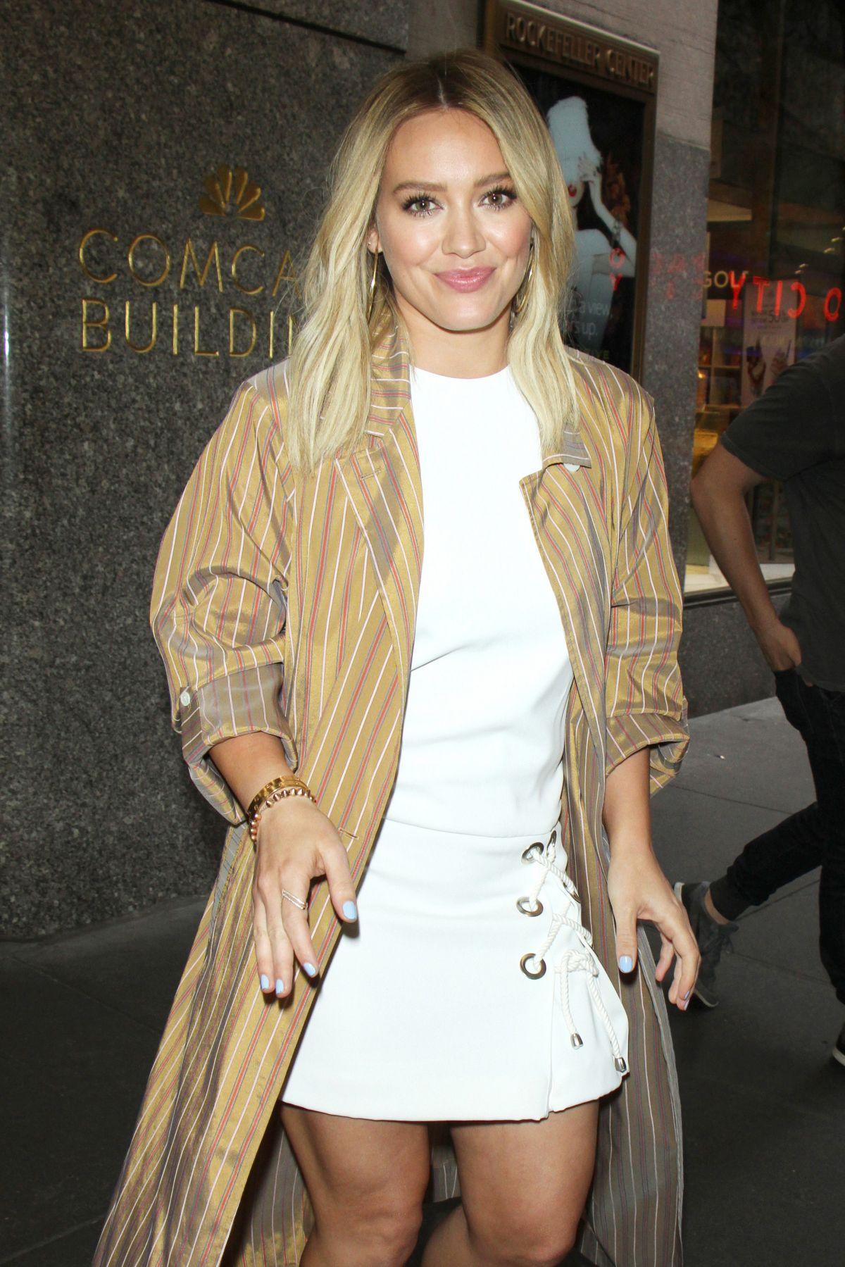 HILARY DUFF Leaves Her Hotel in New York 06/23/2016