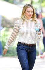 HILARY DUFF Out in Central Park in New York 06/22/2016