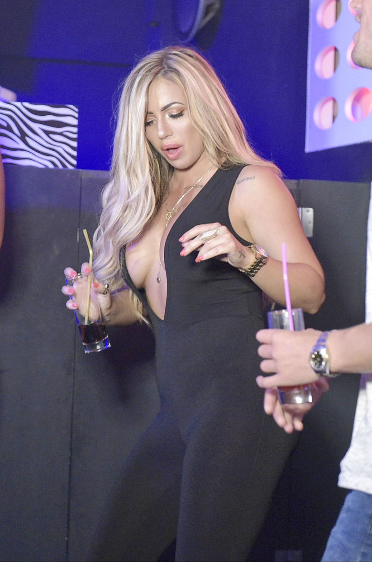 HOLLY HAGAN Filming at Sound Nightclub in Kavos in Greece 06/20/2016