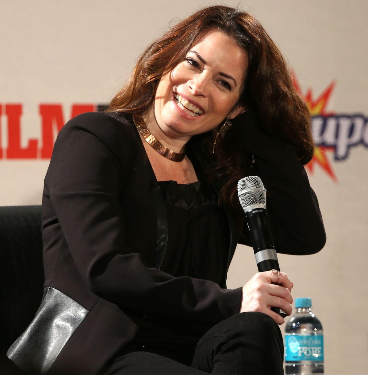 HOLLY MARIE COMBS at Supanova Press Conference in Perth 06/24/2016