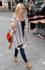 HOLLY WILLOGHBY Arrives at Global House in London 06/10/2016