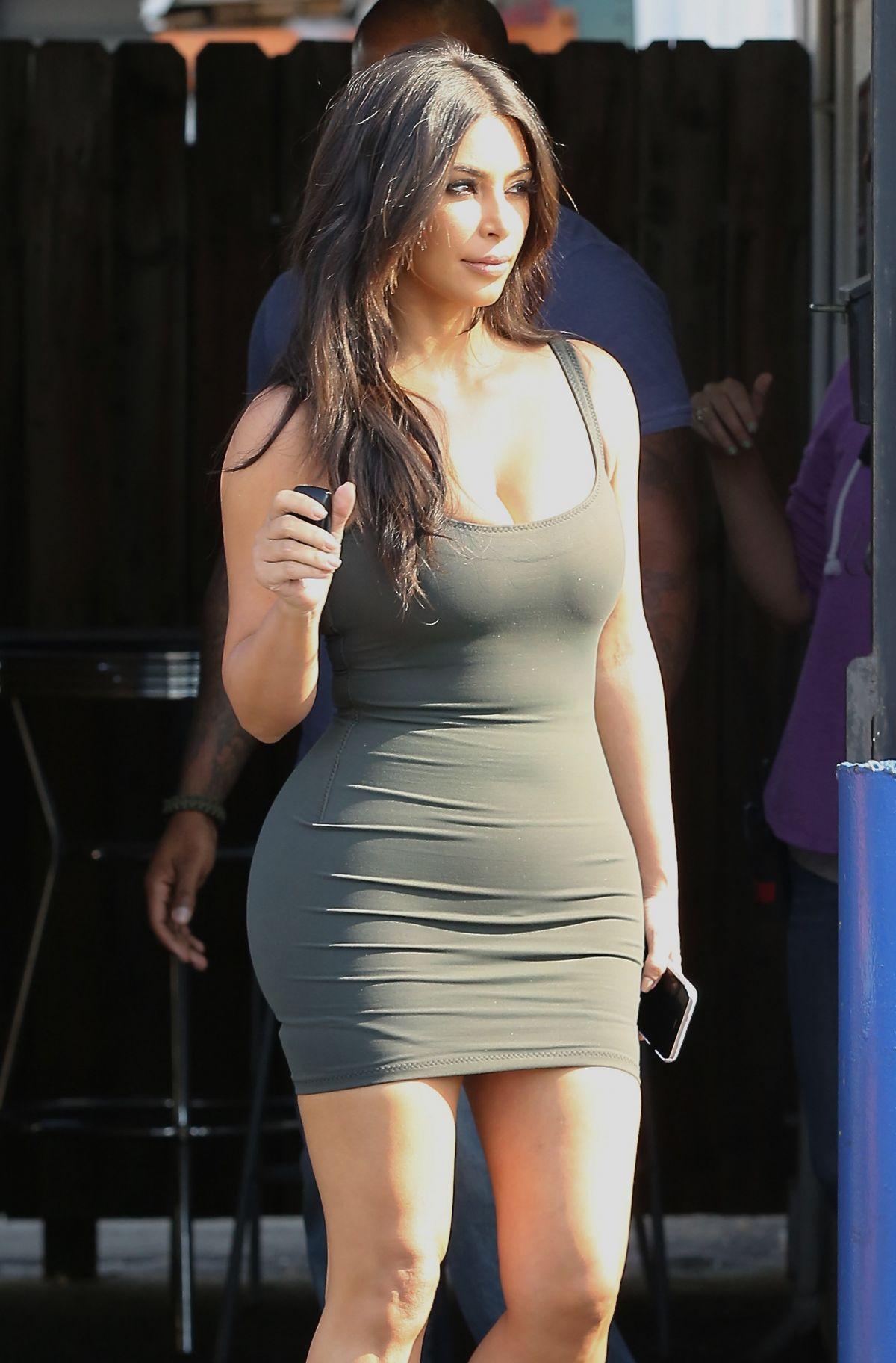 KIM KARDASHIAN in Tight Dress at a Studio in Van Nuys 06 ... Kim Kardashian