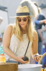 ELIZABETH OLSEN at a Farmers Market in Studio City 06/26/2016