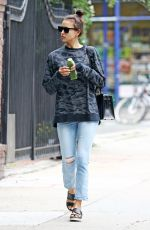 IRINA SHAYK Out and About in New York 06/16/2016